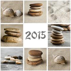 collage galets et sable  2015