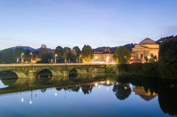 Turin (Torino), river Po and Gran Madre