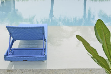 Turquoise Pool Bench