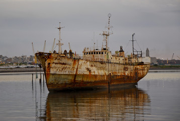 Abandoned ship  in Montevideo