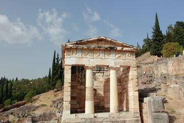 The Athenain Treasury at Ancient Delphi