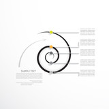 Minimal infographic template, business concept with five options