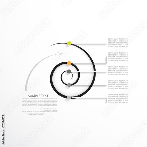 Minimalny infographic szablon, biznesowy pojęcie z pięć opcjami