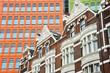canvas print picture - Gebäude mit Gegensatz in London
