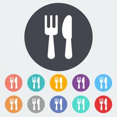Cutlery single icon.