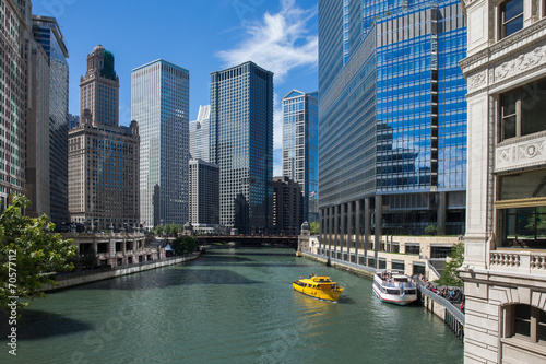 Fotobehang Grote meren Chicago River View