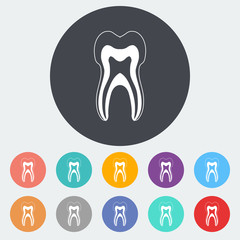Tooth icon.