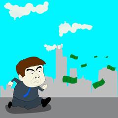 follow money, illustration design