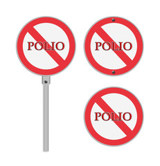 No Polio sign - isolated