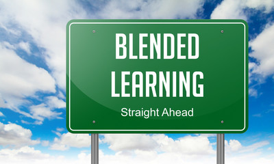 Blended Learning on Highway Signpost.