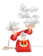 Hot line vintage telephone