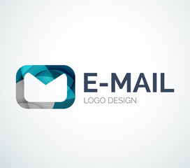 Email logo design made of color pieces