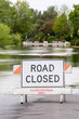 Road Closed Verticle Flooded Street - 70578782