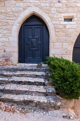 Porte d'entrée maison médiévale