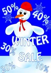 Snowman sale billboard