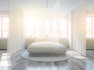 schlafzimmer in der Morgensonne