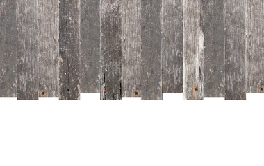 Wood frame with Copy Space isolated on white