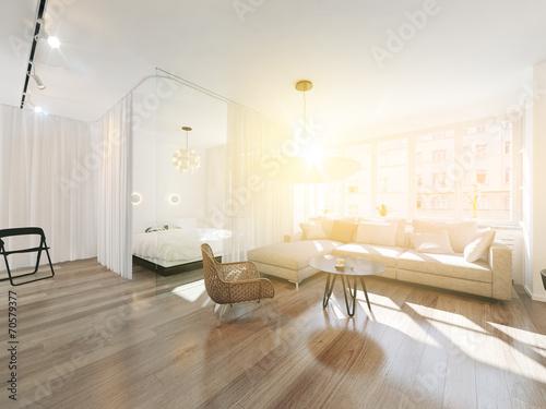 Wohnzimmer im Sonnenschein © Gunnar Assmy
