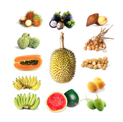 Thai tropical fruits for healthy