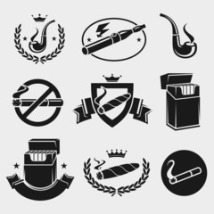 Cigarettes set. Vector