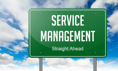 Service Management on Highway Signpost.