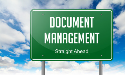 Document Management on Highway Signpost.