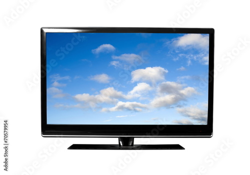 tv with sky - 70579954