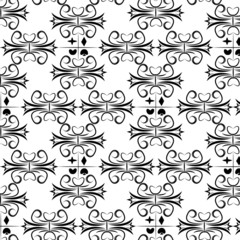 suit of cards seamless pattern