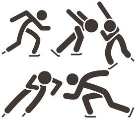 Skate icon set