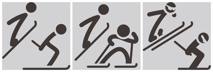 Nordic combined icons