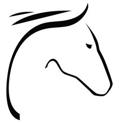 Contour of horse
