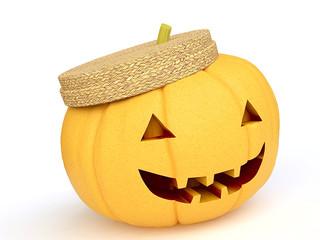 Funny Halloween Pumpkin in 3D