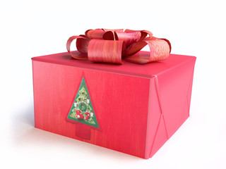 Christmas Gift Box in 3D