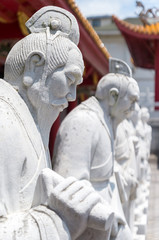 72 followers statues of Confucian Temple (孔子廟72賢人石像) in Nagasaki