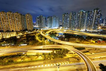 Hong Kong traffic night