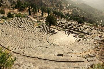 Amphitheatre at Ancient Delphi Ruins