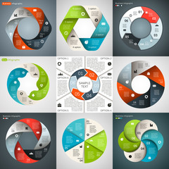 Vector circle infographic, diagram, presentation 6 options