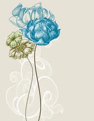 Retro wedding flower bouquet