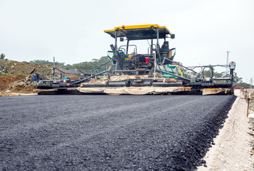 asphalt pavement works for road repairing