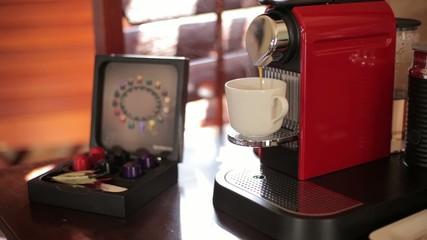 Coffee Machine Making a Cup