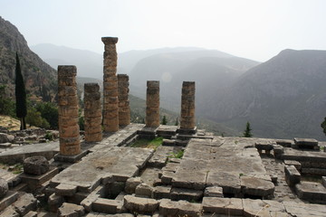 Ancient Temple of Apollo at Delphi