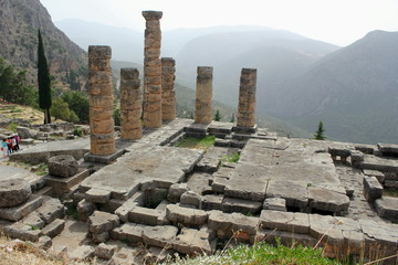 The Ancient Temple of Apollo at Delphi