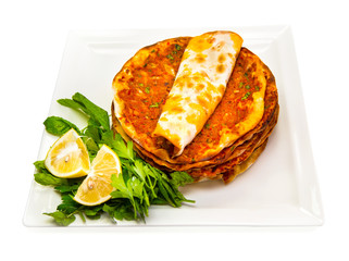 Turkish specialty lahmacun