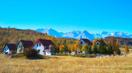 Village. Mountains. Montenegro