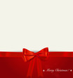 Christmas background. Shiny ribbon on red background. Vector ill
