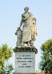 Monumento a granduca Pietro Leopoldo, statua di marmo, Pisa