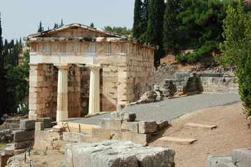 The Athenian Treasury at Ancient Delphi