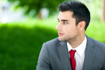 Confident businessman portrait outdoor