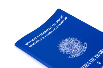Brazilian work document and social security document (carteira d