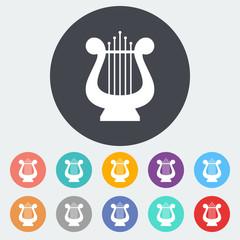 Lyra flat icon